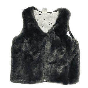 H&M Dark Grey Lush Faux Fur Vest